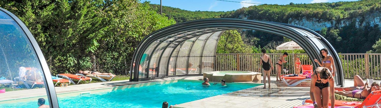 Campsite swimming pool Dordogne