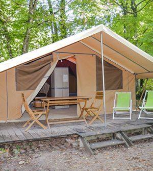 tente safari camping dordogne